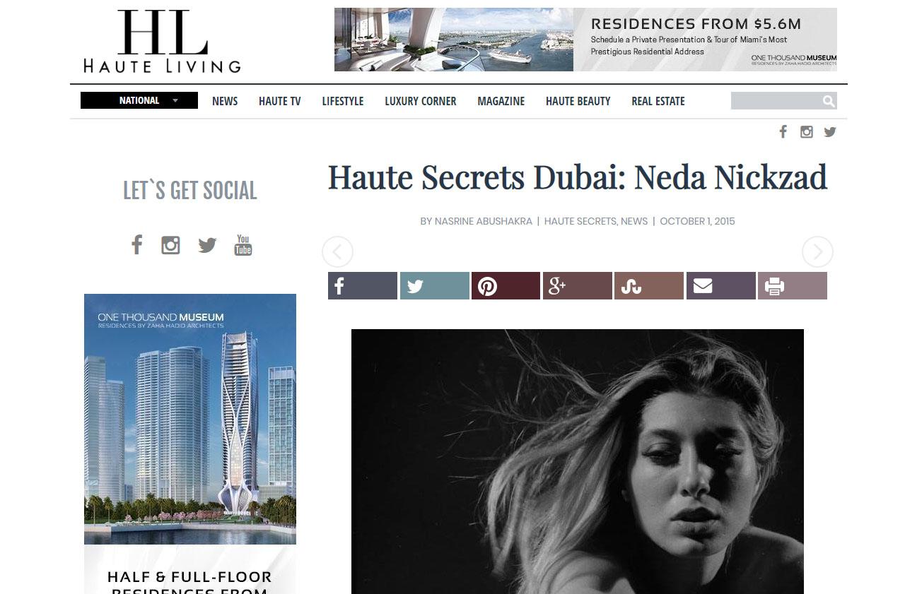 Haute Secrets Dubai Neda Nickzad